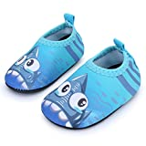 JIASUQI Classic Outdoor and Indoor Sports Water Shoes Beach Sandals for Baby Boys and Girls,Blue Shark 6-12...