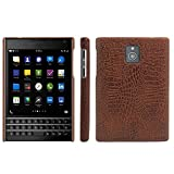 HualuBro BlackBerry Passport Hülle, [Ultra Slim] Premium Leichtes PU Leder Leather Handy Tasche Schutzhülle Case Cover für BlackBerry Passport Smartphone (Braun)