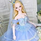 MZBZYU 1/3 BJD Doll Grande Taille 62CM 26 Joints SD poupées Personnalisé Poupées avec Tenue élégante Robe Chaussures Perruques Maquillage Gratuit Filles Bricolage Jouets