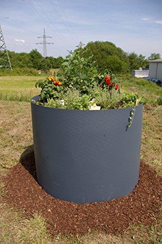 prima terra Hochbeet-Bausatz Kunststoff rund anthrazit D=100cm H=80cm