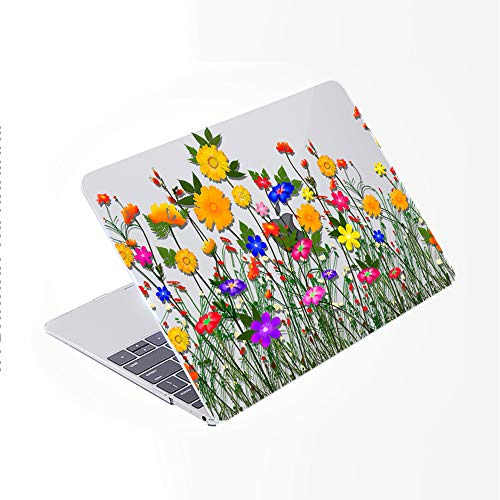 SDH Older for MacBook Air 13 Case (Model: A1369 / A1466, 2010-2017 Release), Plastic Hard Shell & Gradient Keyboard Skin Cover & Dust Plug Compatible with 13 inch for MacBook Air, Flower World 12