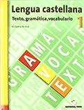 Lengua castellana, texto, gramática, vocabulario, 1 ESO. Cuaderno y solucionario - 9788430749430