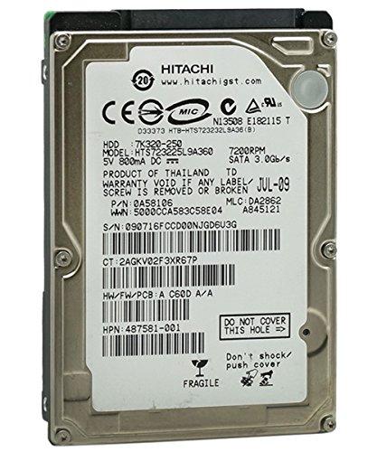 Hitachi Disco duro SATA de 2,5 pulgadas (250 GB, 5400 rpm, 8 MB de caché SATA de 3,0 Gb/s de 2,5 pulgadas (para PS3 Fat, PS3 Slim, PS4)