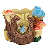 <span class='highlight'><span class='highlight'>Jeffergarden</span></span> Garden Sculptures Mushroom Art Birds Decoration Succulent Plants Desk Fairy House Statue Accessories for Home Outdoor