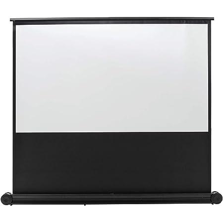 サンワダイレクト プロジェクタースクリーン 100インチ 16:9 自立 パンタグラフ式 床置き 移動ローラー付 100-PRS015