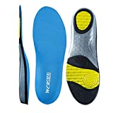 Sky Blue Size 9 Athletic Shoes Insoles for Mens Womens, Shoe Sole Inserts for Running, Arch Comfort Replacement Sports...