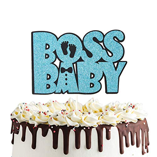 Boss Baby Cake Topper For Baby Shower Birthday Party Decoration Supplies Little Man Oh Baby Sign