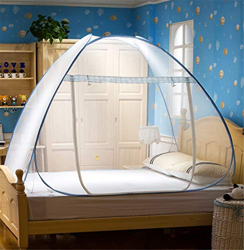 FCZH Pop Up Mosquito Net Tent, Anti Mosquito Nets Pop Up Mosquito Net Bed Tent with Bottom Mosquito Nettings Folding Portable for Baby Toddlers Kids Adult,a,1.8×2m