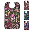 "Bacaby 3 Pack Adult Bibs for Eating, Color totem Washable Reusable Clothing Protector for Elderly Women 33.5"" x 18"""