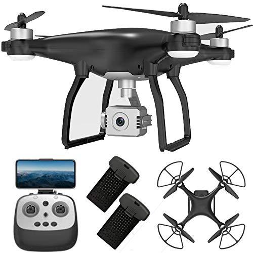 GACYSMD Drone con cámara 4K para Adultos Drone Plegable con Gimbal de 3 Ejes con 5Hz FPV Video Video RC Quadcopter con Auto Return Home Steg ME Dual Cameras Modo INDIVIDUOS 2 Baterías y Estuche.
