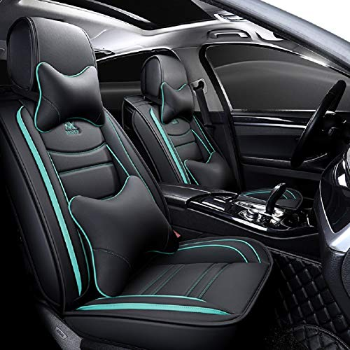 OUTOS Luxury Leather Auto Car Seat Covers 5 Seats Full Set...