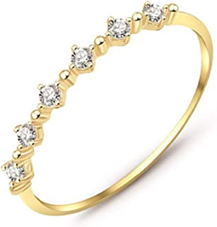 Bishilin 18K Gold Plated Women Wedding Rings Peacock Austrian Crystal CZ White Size 6
