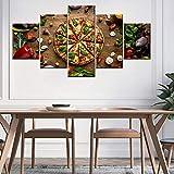 tzxdbh Moderne HD Wandkunst Leinwand Malerei 5 Stück Pizza