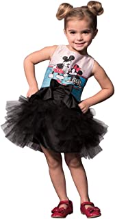 Minnie & Mickey Mouse Satin & Tulle Layered Classic Tutu Dress