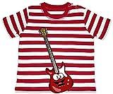 """Hariz - Camiseta para bebé, diseño de rayas y guitarra eléctrica con texto en alemán """"bomberos"""" (6-1..."""
