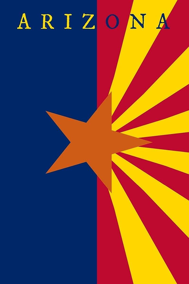 国旗対応計画的Arizona: State Flag Notebook Journal Planner 90 Pages College Ruled