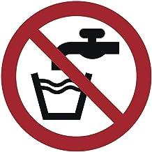 Geen drinkwater plastic bord Ø 20 cm (weerbestendig)