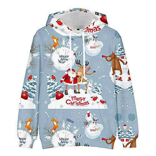 WLZQ Amantes del Otoño E Invierno Suéter Navideño Sudadera Bottoming Shirt Amantes Ropa De Abrigo Navideña Sudaderas con Capucha Ropa De Navidad para Padres E Hijos