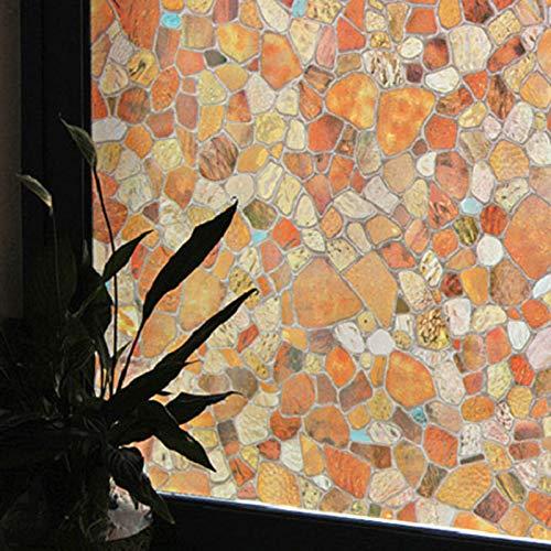 LMKJ Simulación de Piedra de Color Vinilo Impermeable Autoadhesivo vidriera Pegatinas película de Vidrio electrostática sin Pegamento A38 60x200cm