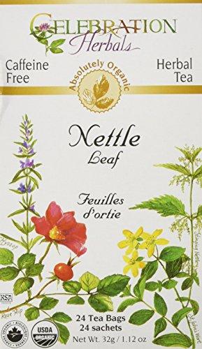 Celebration Herbals Organic Nettle Leaf Tea Caffeine Free, Feuilles D'ortie -- 24 Herbal Tea Bags