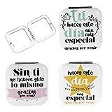 DISOK Pack de 24 Espejos Gracias por Venir, Metal, Multicolo