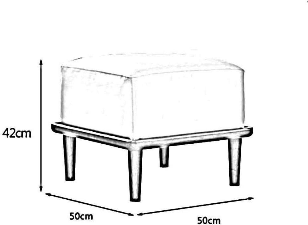 A/N Pouf carré Chaise Changer Chaussures Tabouret - Repose-Pieds rectangulaire Moderne en Similicuir rembourré Repose-Pieds Ottoman-# 1 # 2