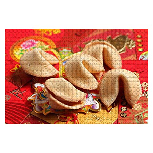 Wooden Puzzle 1000 Pieces Fortune Cookie Shot of Fortune Cookie Chinoiserie Stock Pictures Jigsaw Puzzles for Children or Adults Educational Toys Decompression Game