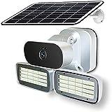 HUIXIA WiFi 4G Caméra D'énergie Solaire - Surveillance Murale De Jardin D'extérieur avec Lampe,...
