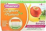 Homogeneizadas sabores de frutas de plasmones de la naturaleza de Apple plátano 4x100g
