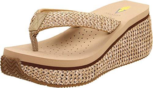 Volatile Women's Island Wedge Sandal, Natural, 10 B US