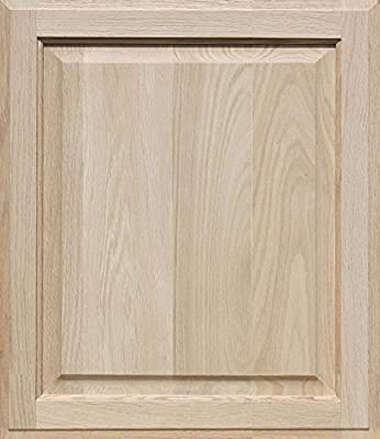 Unfinished Oak Cabinet Door, Square with Raised Panel by Kendor 22H x 19W