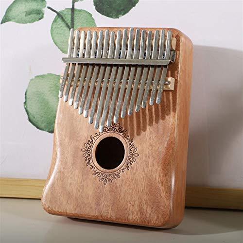 SYXMSM Kalimba 17-Tasten Daumenklavier Kalimba Mahagonikorpus Instrument Daumenklavier Noten (Color : B)