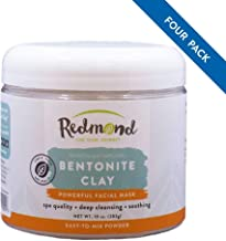 Redmond Clay - Bentonite Clay of 1000 Uses, Soothing Facial Mask, 10 Ounce (4 Pack)