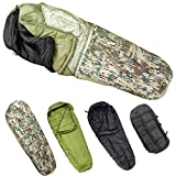 MT Army Military Modular Sleeping Bags System, Multi Layered with Bivy Cover for All Season, Multicam