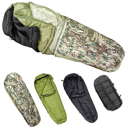 MT Army Military Modular Sleeping Bags System, Multi Layered with Bivy...