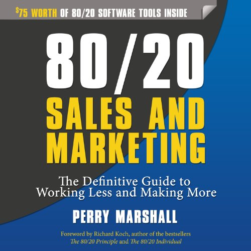80/20 Sales and Marketing audiobook cover art