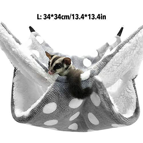 Brandnews Honeycomb Hangmat, hangmat voor knaagdieren, knaagdieren, hangmat, kleine dieren, hol, huis, rat, chinilla, frettje, hamster voor ratten, hamsters en chillas, helpul, Grijs 34 x 34 cm.