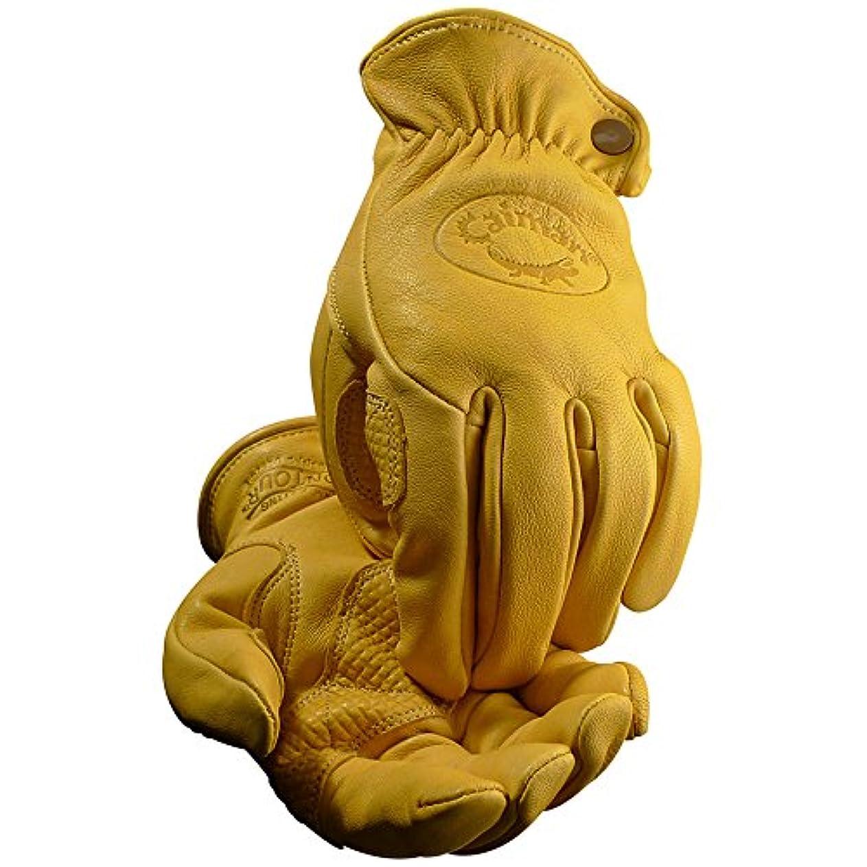 似ている人間送ったCaiman カイマン レザーグローブ(革手袋) ドライバー/ワーク/バイク Gold Sheep Grain(羊革)(XL)