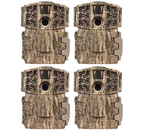 (4) Moultrie Low Glow 14MP Mini 888 Long Range Infrared Game Cameras | M-888
