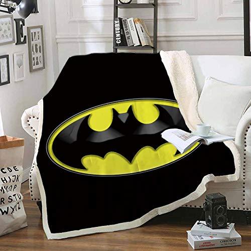 YOMOCO Batman The Dark Knight - Manta de forro polar, extra suave y cálida, para sofá, para adultos y niños, microfibra, para sofá y cama (1,150 x 200 cm)