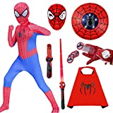 GUOHANG Costumi di Spiderman Bambini Supereroe Spiderman Launcher Mask Shield Shield Cloak E LightSars...