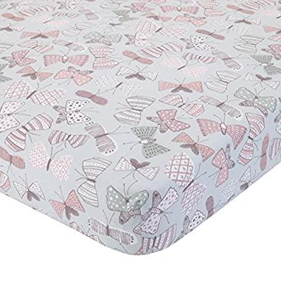 Dwell Studio Arden Butterfly Print Fitted Crib Sheet