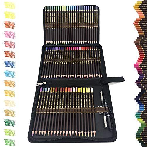 72 Buntstifte Set,Zeichnen Bleistifte Profi Art Set-Ölbasierten gemischten und bruchgeschützten Farben zum Kolorieren von Zeichnen, Schreiben,Ideal für Malbücher für Erwachsene oder Kinder