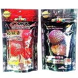 Set of 2 Quick Red Mark , Platinum Head Huncher Cichlid Flowerhorn M Pellets Fish Food 3.5 oz (100g)