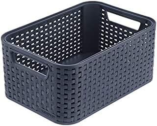 Curver Style 205846 Storage Box Rattan-Look Size M with Second-Generation Lid Polypropylene