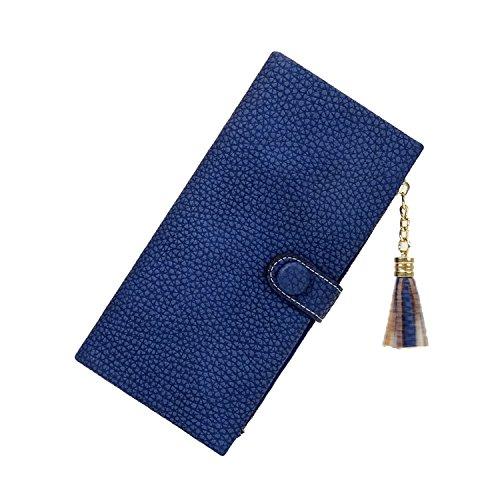 Damen Designer Leder-Optik Geldbörse mit Reißverschluss Münzfach Platz für Smartphone Geldbeutel Portmonee sehr viele Kartenfächern