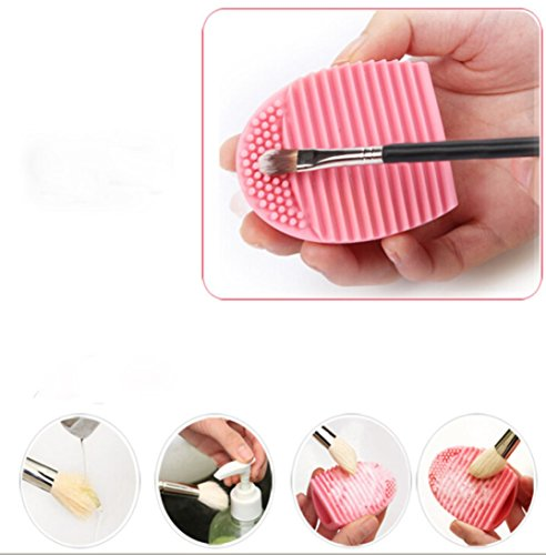 Internet 10pc Nettoyage Gant MakeUp Lavage Brosse Conseil Scrubber Cosmetic Clean Rose