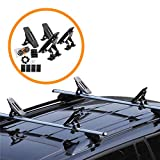 Onefeng Sports 135LB Kayak Saddle, Aluminum Rustless Kayak Roof Rack with 1.5' Width Tie Down Straps for Carrier Canoe Boat Paddle Board Surfboard, to Mount on Car SUV Truck Crossbar