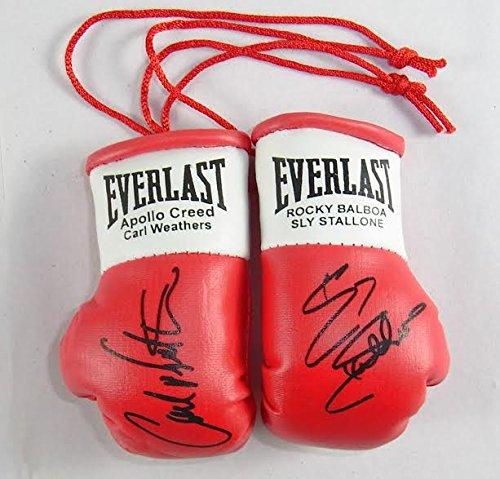 Everlast Apollo Creed V Rocky Balboa (Carl Weathers/SLY Stallone) Handsignierte Mini Boxhandschuhe (von Rocky 1,2,3 und 4)