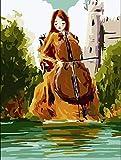 Pintura al óleo digital - Violonchelo junto al río DIY Pintura...